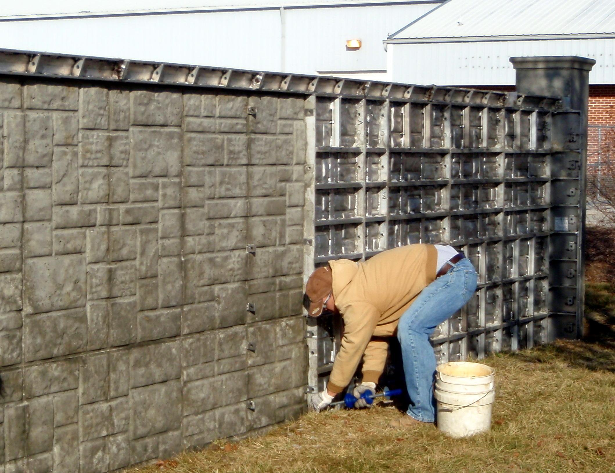 Concrete walls foundations lewallen construction - Decorative concrete wall forms ...